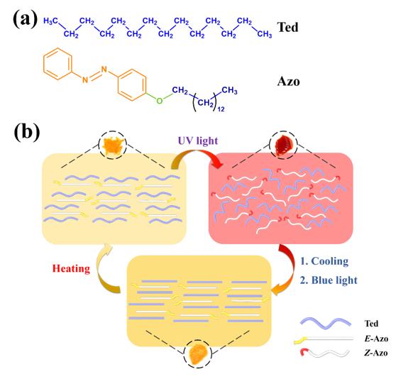 天津大学封伟教授团队AFM:高低温环境内可实现能源循环利用的光敏相变材料